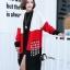 เสื้อผ้าเกาหลีพร้อมส่ง เสื้อคลุมตัวยาวงานไหมพรม cardigan ทอไล่สีขาว แดง ดำ thumbnail 7