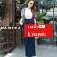 เสื้อผ้าเกาหลีพร้อมส่ง เซทเอี้ยมจั้มสูทผ้ายีนส์ฟอกสีเข้ม thumbnail 3