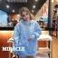 เสื้อผ้าเกาหลีพร้อมส่ง เสื้อกันหนาว oversize มีฮู้ดสีน่าร้าก thumbnail 8