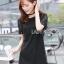 ชุดเดรสเกาหลีพร้อมส่ง มินิเดรสผ้าลูกไม้สีดำสไตล์คลาสสิก thumbnail 2