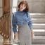 เสื้อผ้าแฟชั่นเกาหลีพร้อมส่ง เสื้อยีนส์แขนยาวผ้านิ่มสวย thumbnail 3