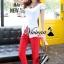 เสื้อผ้าเกาหลี พร้อมส่งCrimson red pants set thumbnail 3