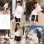เสื้อผ้าเกาหลีพร้อมส่ง เสื้อเชิ้ตคอวี ผ่าแขน2ข้าง thumbnail 5