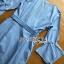 ชุดเดรสเกาหลีพร้อมส่ง เดรสผ้าคอตตอนสีฟ้าลายทางแขนระบาย thumbnail 7