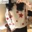 เสื้อผ้าเกาหลีพร้อมส่ง เสื้อหนาวรูปดาว ไหมพรม thumbnail 5