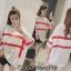 เสื้อผ้าเกาหลีพร้อมส่ง เสื้อไหมพรมเนื้อบาง คอกลม thumbnail 3