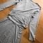 เสื้อผ้าเกาหลีพร้อมส่ง เซ็ตเดรสสายเดี่ยวและเสื้อคลุมผ้าคอตตอนยืดสีเทา thumbnail 7
