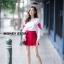 เสื้อผ้าเกาหลีพร้อมส่ง ขาวแดงงานดีก็มาคร้าาาาาา เหมือนเด็กญี่ปุ่นจริงงๆ thumbnail 11