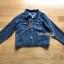 เสื้อผ้าเกาหลีพร้อมส่ง เซ็ตเสื้อแจ็กเก็ตเดนิมทับเสื้อโค้ทตกแต่งฮู้ดขนแกะสีน้ำเงินเข้ม thumbnail 13