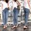 เสื้อผ้าแฟชั่นเกาหลีพร้อมส่ง กางเกงยีนส์ทรงบอยปลายขาตัดขาด thumbnail 8