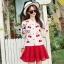 Blossom Cherry Strips Knit Cardigan thumbnail 4