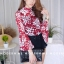 เสื้อผ้าเกาหลีพร้อมส่ง งานเซตเสื้อซีทรูสกีนลายดอกคมชัด thumbnail 7