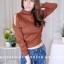 เสื้อผ้าแฟชั่นเกาหลีพร้อมส่ง เสื้อไหมพรมดีไซน์แขนเว้างานสวยแซ่บแมทช์ง่ายใส่สบายค่า thumbnail 1