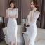 Sandra Snow Whitte Luxury Lace Dress thumbnail 9