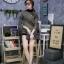 เสื้อผ้าเกาหลีพร้อมส่ง เสื้อผ้าวิ้งแขนยาวคอปีน thumbnail 1