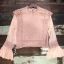 เสื้อผ้าเกาหลีพร้อมส่ง เสื้อลูกไม้ ผ้า silk แต่งเสื้อกั๊กลูกไม้ผูกเอว thumbnail 5