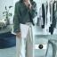 เสื้อผ้าเกาหลีพร้อมส่ง เสื้อเชิ้ต korea style ปลายแขนจั๊ม thumbnail 4