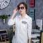 เสื้อผ้าเกาหลีพร้อมส่ง เดรสเชิ้ตแขนยาว กระดุมเรียงสกรีนลาย thumbnail 10