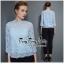 เสื้อผ้าเกาหลีพร้อมส่ง เสื้อลูกไม้คอกลมตั้งสูงสไตล์วินเทจ thumbnail 9