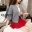 เสื้อผ้าแฟชั่นเกาหลีพร้อมส่ง เสื้อคลุมคาดิแกน (เสื้อสเวตเตอร์ถัก) thumbnail 4