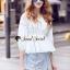 เสื้อผ้าเกาหลีพร้อมส่ง T-Shirt Circle Outfit Sweet Skirt Jean thumbnail 1