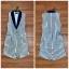 เสื้อผ้าแฟชั่นเกาหลีพร้อมส่ง เซ็ตเสื้อคอปกแขนกุดตัวยาว ใช้ผ้าถึง 3 ชั้น เพื่อความเนี๊ยบ thumbnail 8