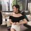 เสื้อผ้าเกาหลีพร้อมส่ง เสื้อไหมพรมใส่ได้2 แบบ thumbnail 9