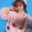เสื้อผ้าเกาหลีพร้อมส่ง เสื้อผ้านุ่มติดดอกไม้ 3D thumbnail 1