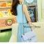 ชุดเดรสเกาหลี พร้อมส่ง เดรสสไตล์สาวหวาน เรียบ หรู เนื้อผ้าชีฟองคุณภาพดี thumbnail 3