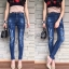 เสื้อผ้าแฟชั่นเกาหลีพร้อมส่ง กางเกงยีนส์ขายาวเอวสูง สไตล์ CPS CHAPS thumbnail 6