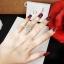 พร้อมส่ง แหวนเพชร CZ แท้ เพชรหน้ากว้าง 4 กะรัตสวยๆ thumbnail 6