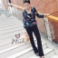เสื้อผ้าเกาหลีพร้อมส่ง เชิ้ตสูทผ้าซิลค์วาเลนติโนพิมพ์ลาย thumbnail 7