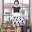 ชุดเดรสเกาหลีพร้อมส่ง เดรสแฟชั่น ช่วงอกเป็นผ้ายืด ดีไซน์เปิดไหล่สวยเก๋ thumbnail 3