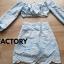 เสื้อผ้าเกาหลีพร้อมส่ง Set เสื้อ Tops แขนยาว + กระโปรงทรงเอ thumbnail 11