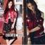 เสื้อผ้าแฟชั่นเกาหลีพร้อมส่ง Jacket (devil)devil สีแดงผ้าซาตินสีแดงสวยมากๆ thumbnail 2
