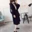 เสื้อผ้าเกาหลีพร้อมส่ง เสื้อคลุมตัวยาว ผ้าไหมพรมเนื้อดี thumbnail 7