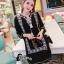 ชุดเดรสเกาหลี พร้อมส่งMini Dress โมฮีเมี่ยนสีดำ thumbnail 1