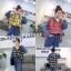 เสื้อผ้าเกาหลีพร้อมส่ง เสื้อแขนยาว ดีเทลช่วงตัวลายสก๊อต thumbnail 1