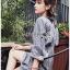 เสื้อผ้าเกาหลีพร้อมส่ง มินิเชิ้ตเดรสผ้าลายทาง thumbnail 10