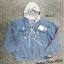 เสื้อผ้าเกาหลีพร้อมส่ง เสื้อแจ็คเก็ตยีนส์ตัดต่อที่คอติดฮูท thumbnail 3