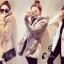 เสื้อผ้าเกาหลีพร้อมส่ง Winter Grey Bunny Cuite Hoody thumbnail 7