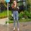 กางเกงยีนส์เอวสูง ขาดถากๆสวยมาก thumbnail 2