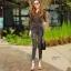 กางเกงยีนส์เอวสูง สีดำฟอกสีสวยมากๆ thumbnail 2