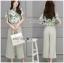เสื้อผ้าเกาหลี พร้อมส่งเซ็ตเสื้อพิมพ์ลายดอกไม้และกางเกง thumbnail 5