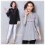 เสื้อผ้าเกาหลีพร้อมส่ง เสื้อตัวยาว คอกลม แขนยาว เนื้อผ้า cotton 100% thumbnail 1