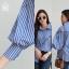 เสื้อผ้าเกาหลีพร้อมส่ง สาวกเชิ้ตห้ามพลาดค่าา กับเสื้อเชิ้ตลายริ้ว thumbnail 8