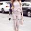 เสื้อผ้าเกาหลีพร้อมส่ง T-Shirt Lace Sweet Pastel Set thumbnail 3