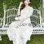 ชุดเดรสเกาหลีพร้อมส่ง เดรสผ้าลูกไม้สีขาวสไตล์เจ้าหญิงสุดหวาน thumbnail 5