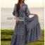เสื้อผ้าเกาหลีพร้อมส่ง เชิ้ตเดรสผ้าคอตตอปักลายแพทเทิร์นดอกไม้ thumbnail 4