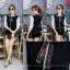 เสื้อผ้าเกาหลีพร้อมส่ง เสื้อไหมพรมคอปกแขนยาวเนื้อบาง thumbnail 1